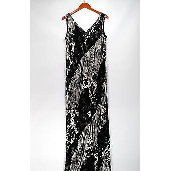 Attitudes by Renne Jumpsuits Tall Printed Wide Leg Black A276067