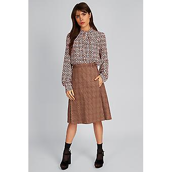 Louche Greenfield Country Aine Skirt Beige
