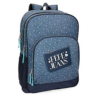 Pepe Jeans Olaia Blue Backpack Double Compartment 45 cm