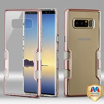 MYBAT Metallic Rose Gold/Transparent Clear TUFF Panoview Hybrid Protector Cover  for Galaxy Note 8