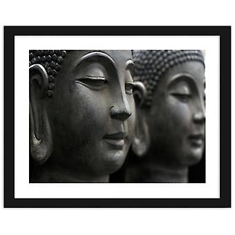 Picture In Black Frame, Buddha Statues