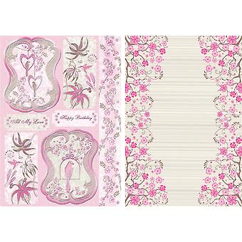 Free As A Bird Die Cut Punch Out Card 2 Sheet Pack Beautiful Birds Blush Fr Pc T9954