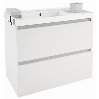 Bath+ Sink cabinet 2 drawers Gloss White Gloss 80CM