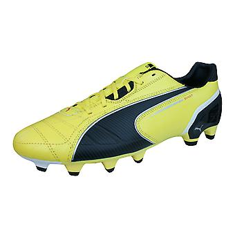 Puma Spirit FG Mens Leather Football Boots / Cleats - Yellow