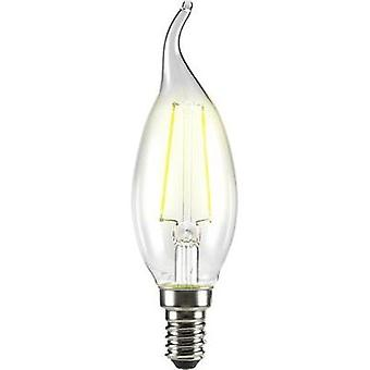 LED E14 Candle angular 2 W = 25 W Warm white (Ø x L) 35 mm x 120 mm EEC: A++ Sygonix Filament 1 pc(s)