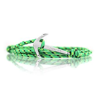Vikings silver-line anchor strap nylon green with silver anchor
