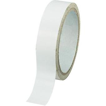 Double sided adhesive tape Conrad Components White (L x W) 30 m x 48 mm Acrylic Content: 1 Rolls