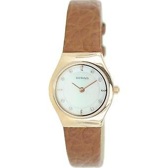 Bering ladies slim watch clock classic - 11923-562 leather