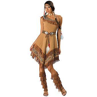 Indiske Maiden Pocohontas Native American Deluxe kvinders kostume