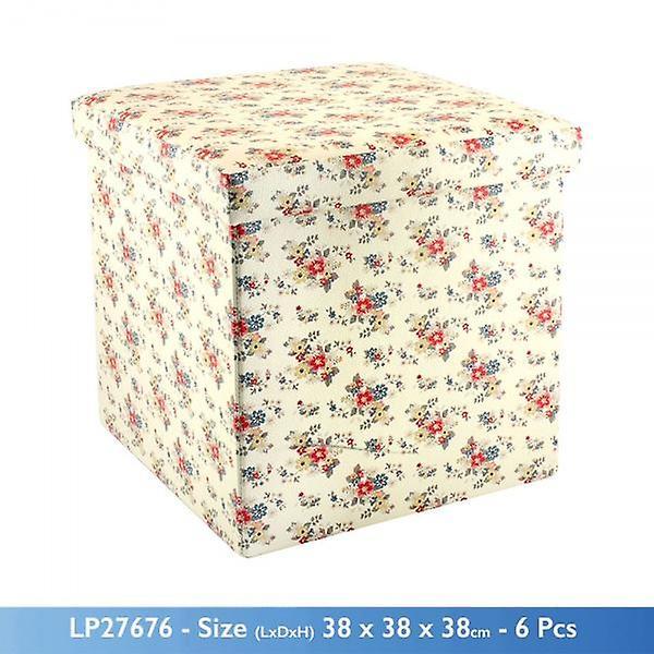 Pliage Ottomane Et Siège Daisy De Été Flower Rangement Thème 38x38x38cm Boîte clFKJ31T