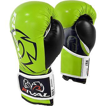 Rival boksning RB7 Fitness + krog og løkke taske handsker - Lime/sort