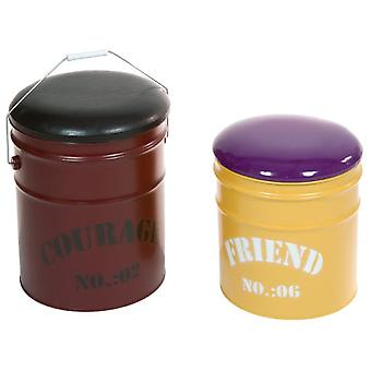 Wellindal Puff con Tapa juego de dos (Home , Living and dining room , Poufs)