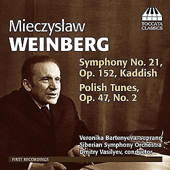 Weinberg - Sym 21 Kaddish & polsk Tunes [CD] USA importerer