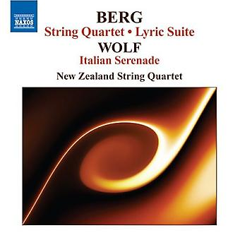 Berg/Wolf - Berg: String Quartet; Lyric Suite; Wolf: Italian Serenade [CD] USA import