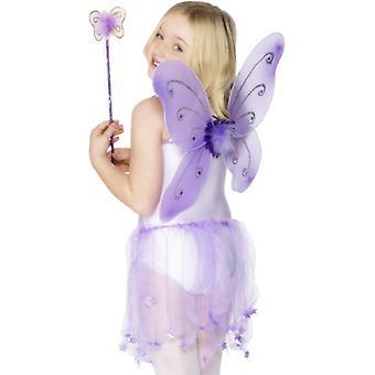Barn fairy vinger fairy fairy fairy drakt lilla vinger