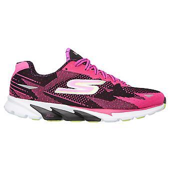 Skechers Womens corriendo calzado neutro GORun 4 rosa - 13996-BKHP
