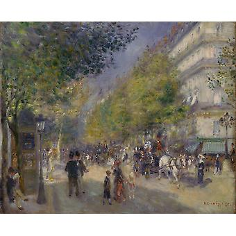 Pierre Auguste Renoir - French The Grands Boulevards Poster Print Giclee