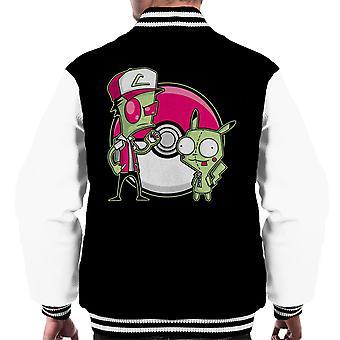 PoGIRmon Invader Zim Pokemon Men's Varsity Jacket