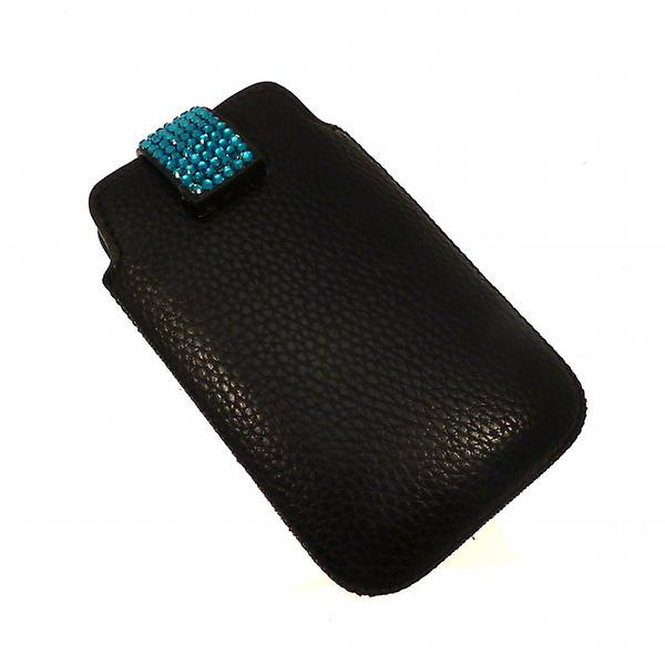 W.A.T Sparkling Teal Blue Crystal Phone Case For Blackberry Or Iphone
