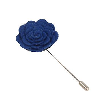 Snobbop revers-corsage flower pin brooch blue pin Royalblau