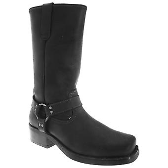 Gringos Mens High Harley Western Harness Leather Boots