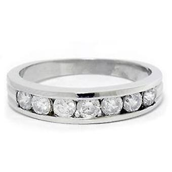 本物 14 K ダイヤモンド結婚式記念日リング ラウンド 1 ct