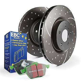 EBC Brake Kit - S3 Greenstuff 6000 and GD Rotors S3KR1015 Fits:CHEVROLET  2002