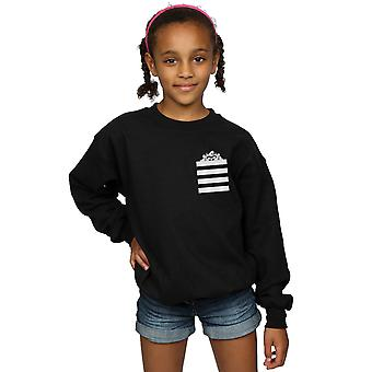 Looney Tunes Girls Taz Stripes Faux Pocket Sweatshirt