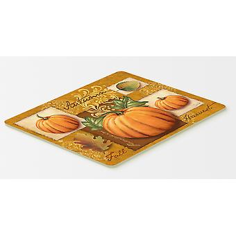 Carolines Treasures  PTW2006CMT Fall Harvest Pumpkins Kitchen or Bath Mat 20x30