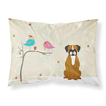 Christmas Presents between Friends Flashy Fawn Boxer Fabric Standard Pillowcase