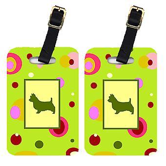 Carolines Treasures  CK1009BT Pair of 2 Australian Terrier Luggage Tags