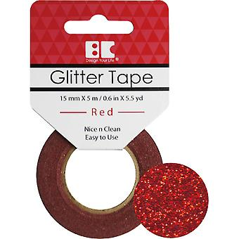 Best Creation Glitter Tape 15mmX5m-Red GTS-003