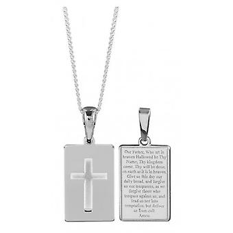 Orton West Lords Prayer Tablet Pendant - Silver