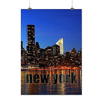 Matte or Glossy Poster with Photo River New York | Wellcoda | *q1413