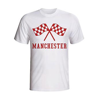 Man Utd Waving flag t-shirt (bianco)