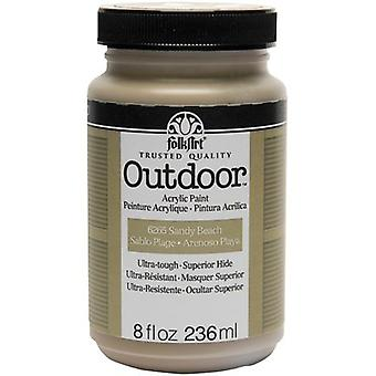 FolkArt Outdoor Paint 8oz-Sandy Beach FAO8-6265