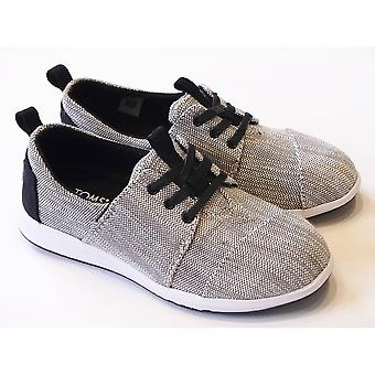 TOMS Boys Grey Lace-Up Casual Shoe | TOMS Del Rey