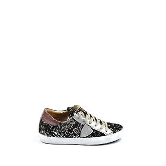 Philippe model women's CLLDGG63 silver leather sneakers