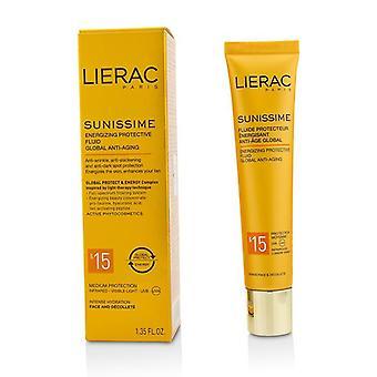 Lierac Sunissime Global antiedad energizante protectora SPF15 fluido para cara y escote - 40 ml/1,35 oz