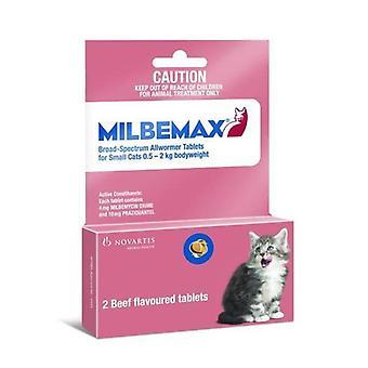 Milbemax Wrexham kattunger og små katter 1-4lbs (0,5-2 kg)-2 tabletter