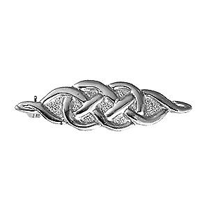 Argent 11x38mm celtique Broche de conception de noeud