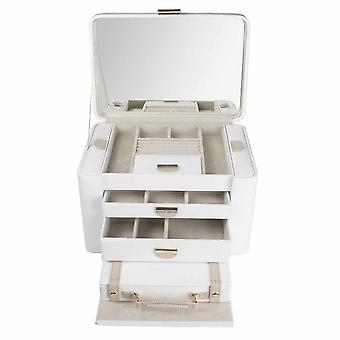 Dulwich Designs Leather Extra Large Cream/Mink Jewellery Box