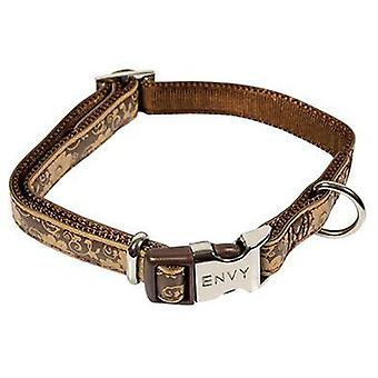Nayeco Collar Envy Flora (Brown) Size 1 (Dogs , Collars, Leads and Harnesses , Collars)