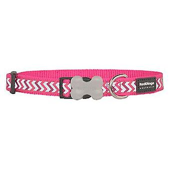 Red Dingo Dog Collar Reflective Ziggy Hot Pink