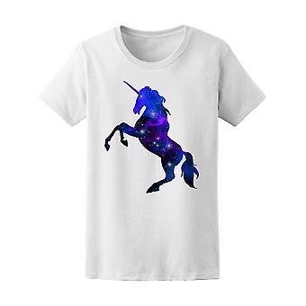 Galaxy Unicorn Silhouette  Tee Women's -Image by Shutterstock