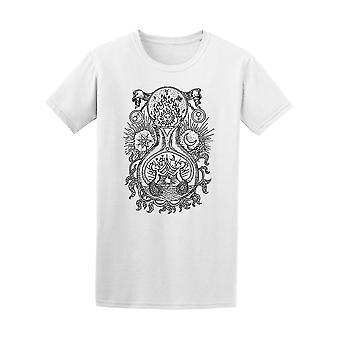 Hintere & weißen Alchemie Symbole T-Shirt Herren-Bild von Shutterstock
