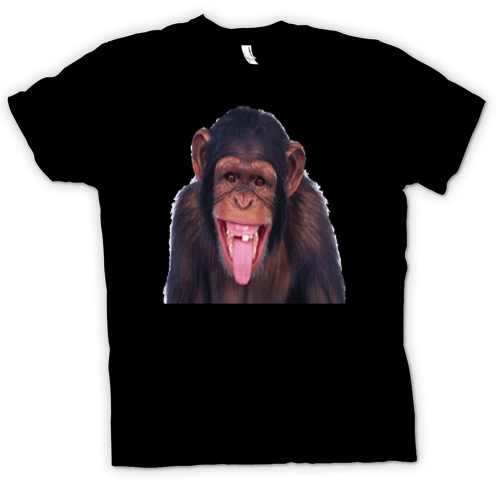Womens T-shirt-brutale Chimp Funny Face