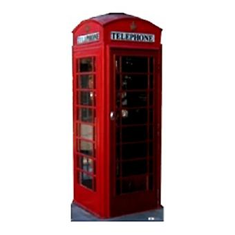 Classic Red Retro Phone Box. Kartong cutout