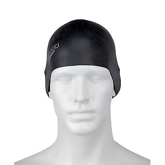 Speedo Long Hair Silicone Swimming Cap - Black