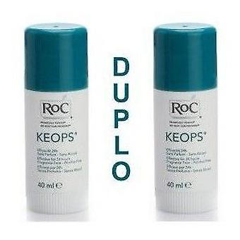 Roc Keops Deodorant Stick without Alcohol Duplo 40g